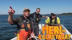Kalastusoppaat ammattikalastajan kyydissä Loviisassa