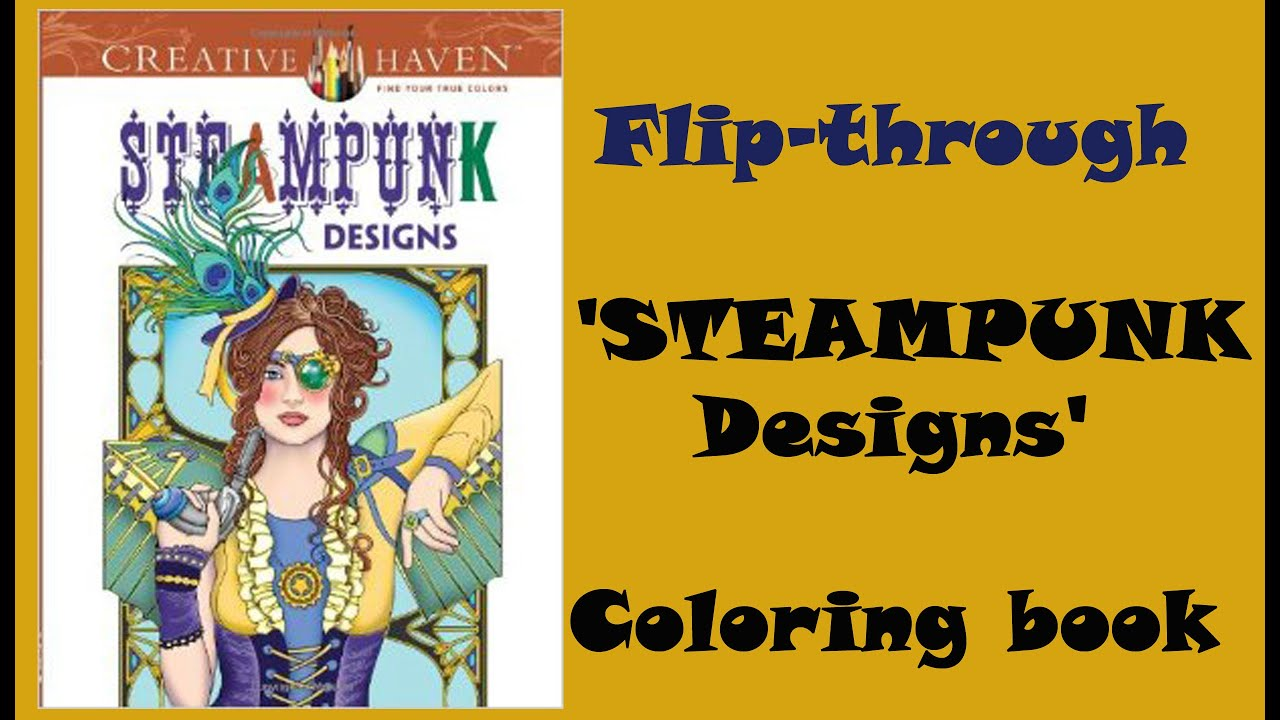 Steampunk Designs Coloring Book Review