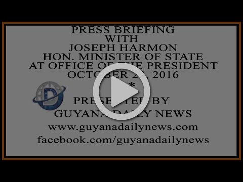 Press Briefing with Joseph Harmon at Office of the Presidency || Presented by Guyana Daily News
