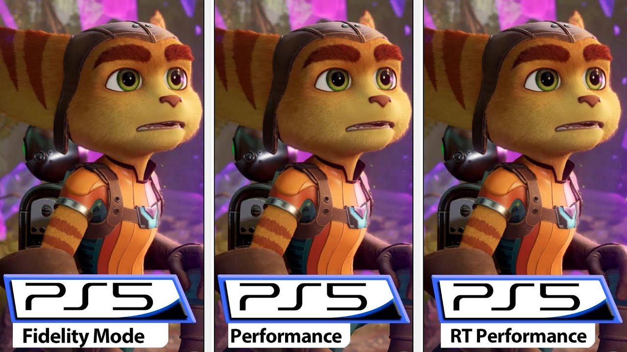 Ratchet & Clank: Rift Apart   Fidelity VS Performance VS RT Performance   PS5 Modes Comparison