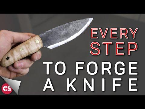 Forging a Knife - EVERY SINGLE STEP