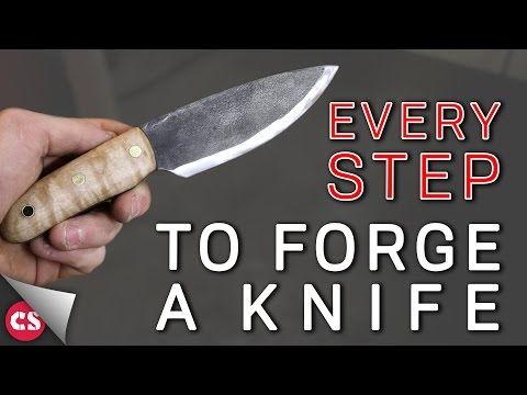Forging a Knife - EVERY SINGLE STEP