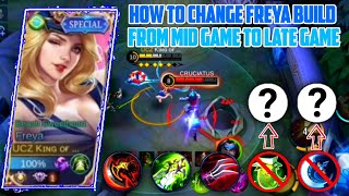 PRO FREYA USER KΝOW HOW TO CHANGE FREYA BUILD FROM MID GAME TO LATE GAME!! SHADOW OF EVIL MLBB