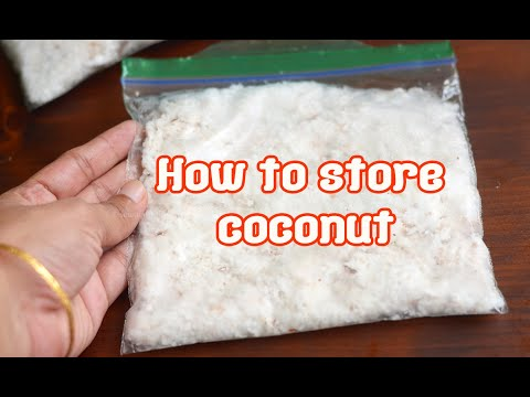 How I store grated coconut, freezing fresh grated coconut