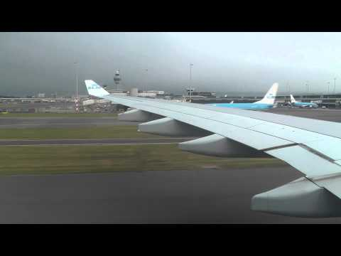 KLM A330-200 Landing In Amsterdam Airport Schiphol