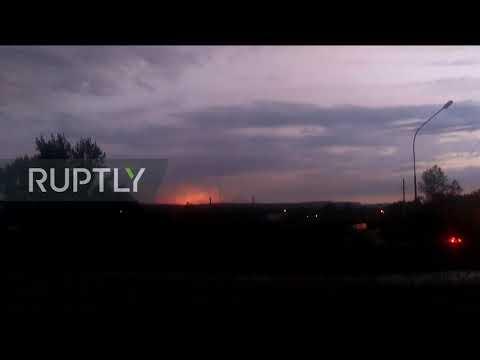 Russia: Ammunition depot explosion injures 8 in Krasnoyarsk region