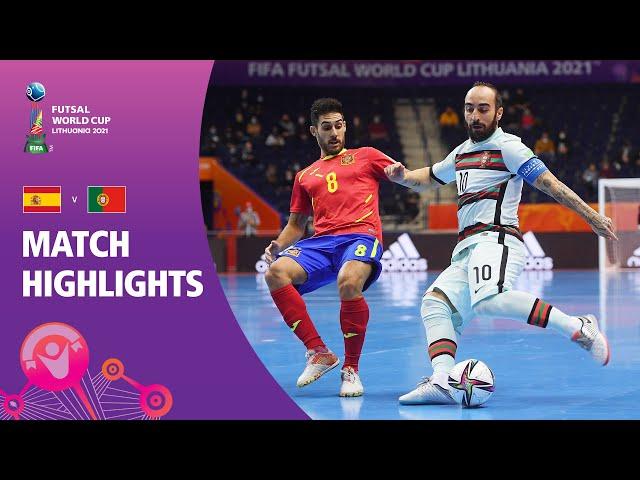Spain v Portugal   FIFA Futsal World Cup 2021   Match Highlights
