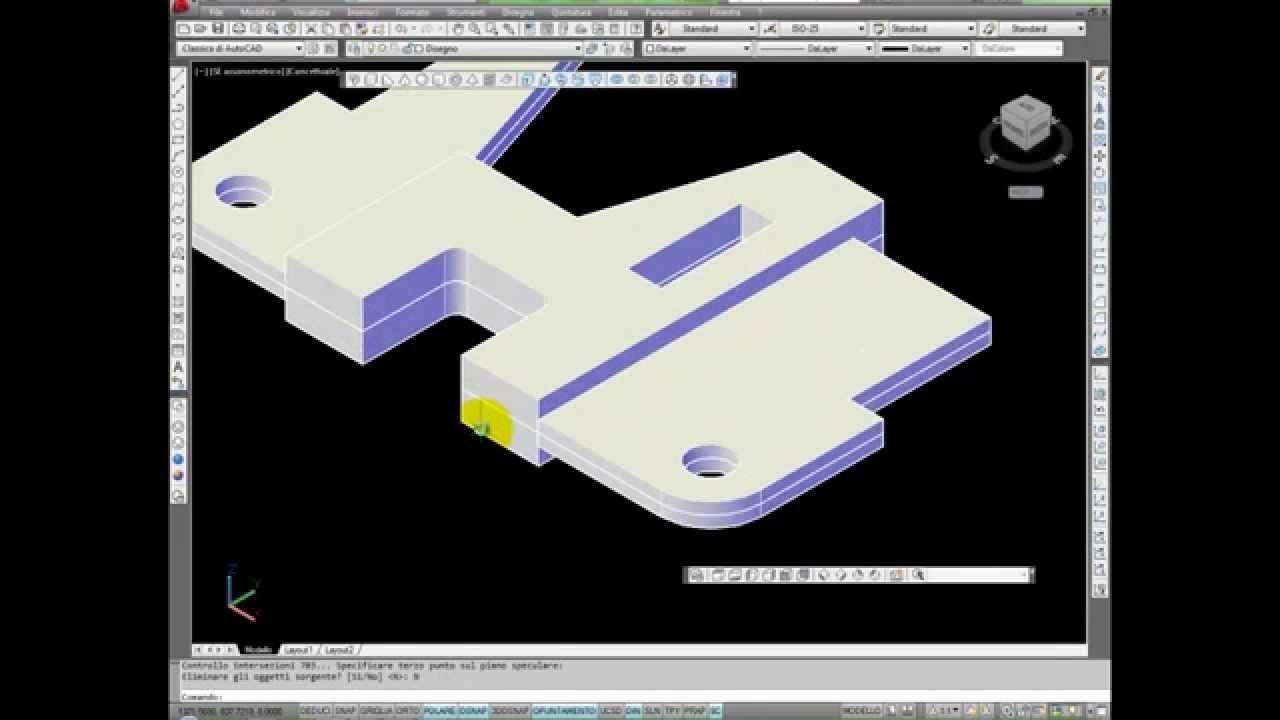 Il mio primo disegno 3d con autocad youtube for Disegno 3d free