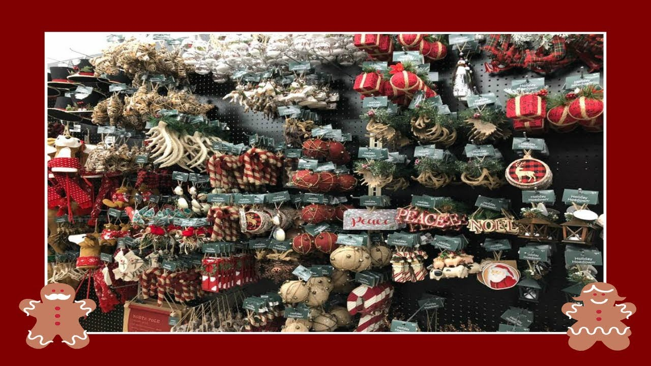 Christmas Decor Shopping At The At Home Store! - YouTube