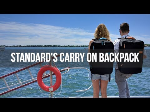 Standard's Carry on Backpack | 35L Flight Approved Backpack - How it works