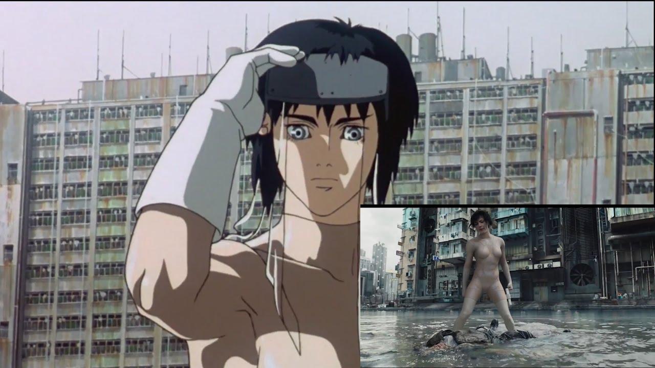 Ghost In The Shell Anime Vs Film Porownanie Zwiastunow Youtube
