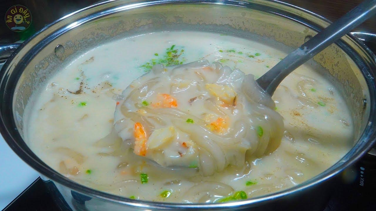 Cách Nấu Bánh Canh Cua Nước Cốt Dừa Thơm Béo Ngon | Ăn Gì Đây