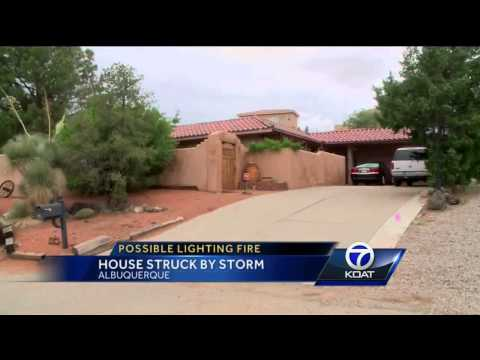 Family believes lightning ignited fire at house