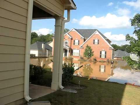 Flood at my brother Vernon's house Austell, GA (Atlanta west suburb)