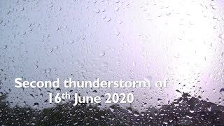 Second thunderstorm of 16 June 2020 (Manchester, UK)