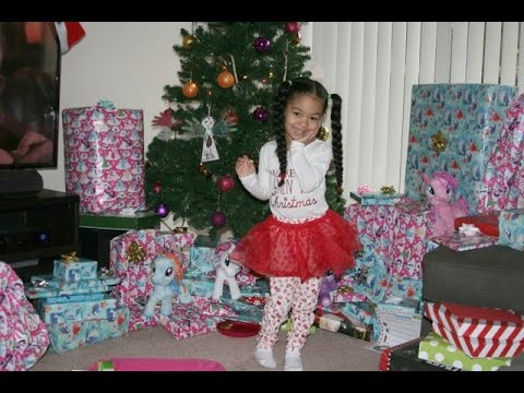 Christmas Morning Opening Presents 2016
