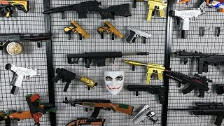 Joker Mask! Polygon Shooting Practice with Realistic Pellet Pistols and Rifles!