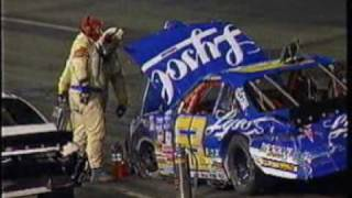 1995 NASCAR Kroger 200 - Markham, Madison, and Parsons crash