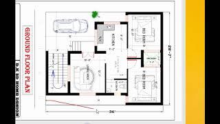 28x36 best and modern house plan details