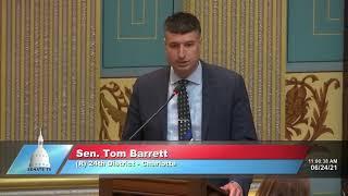 Sen. Barrett Senate Resolution 70 commemorates PTSI Awareness Day