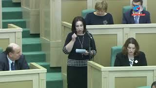 Выступление Веры Щербины в Совете Федерации