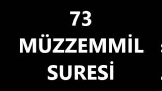 73 MÜZZEMMİL SURESİ