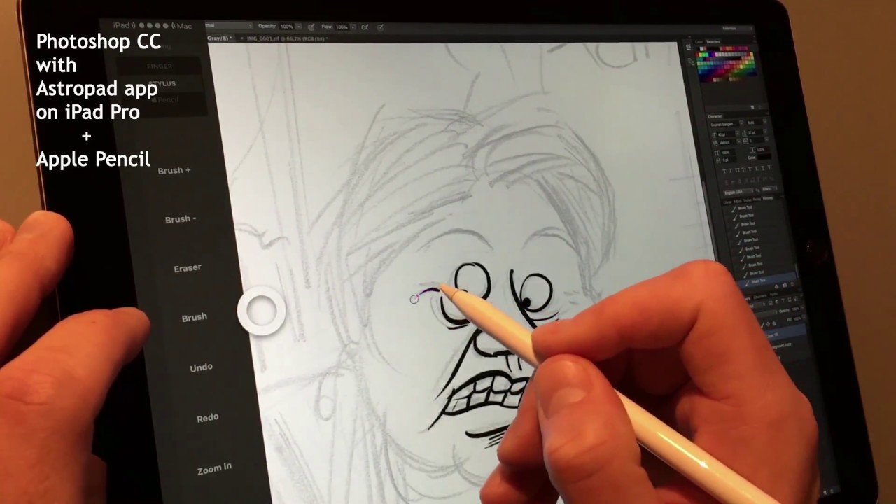 Procreate vs astropad photoshop cc with apple pencil