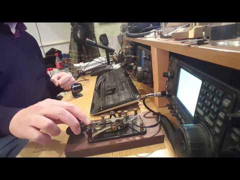 Morse Code QSO using an American military J-38 telegraph key