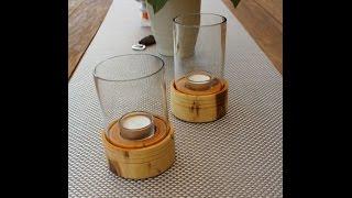 Windlicht aus Flasche - Windlight bottle - DIY - Helmchen