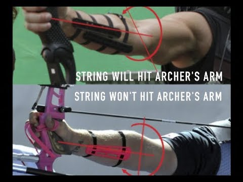 Bowstring hitting your arm? Stop it from happening in two easy steps!
