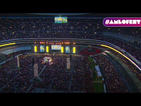 Cierre de Campaña AMLO en el Azteca