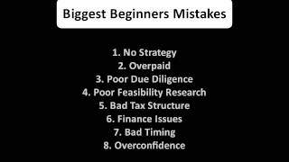 Property Development - Beginners Mistakes