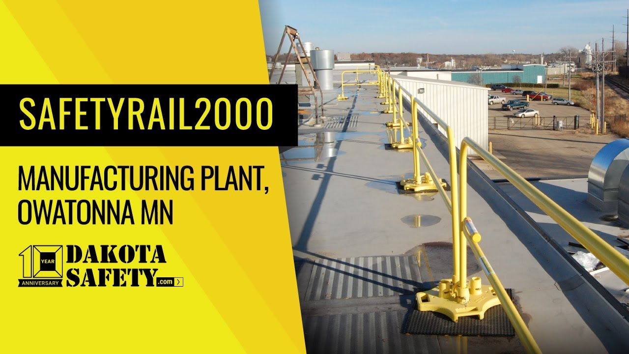 Safetyrail2000 Non Penetrating Guardrail With Permaline
