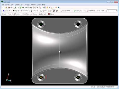 SURFCAM Tutorial - CView: Creation Overview