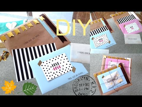 diy sobres bonitos tarjeta detalles para regalar