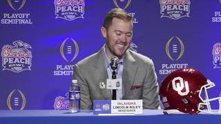 OU Football - Lincoln Riley Peach Bowl press conference