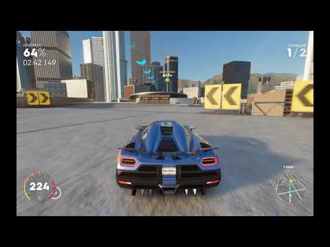 Девушка за рулем. Игра: The Crew 2 . Автомобиль: Koenigsegg Agera R