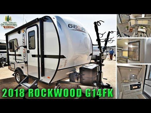 New 2018 Updated ROCKWOOD G14FK Lightweight Travel Trailer RV  Solar Ready Colorado