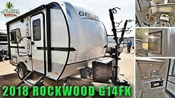 New 2018 Updated ROCKWOOD G14FK Lightweight Travel Trailer RV  Solar Ready Colorado