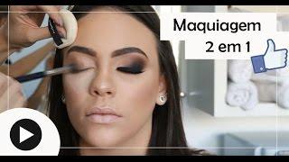 Maquiagem completa 2 em 1| Passo a passo MakeUp completa