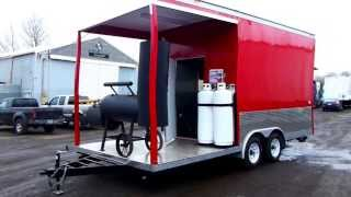 Concession Food Trailer With Smoker Deck