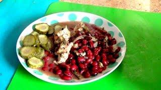 Куриная грудка с фасолью  по мексиканским мотивам легко и просто.