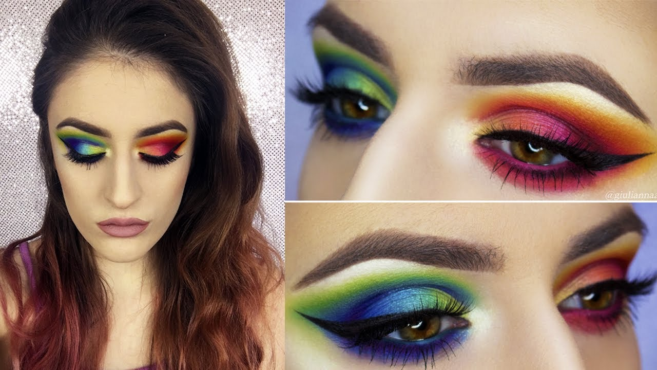 Rainbow Eyeshadow TWO TONED Make Up Tutorial - YouTube