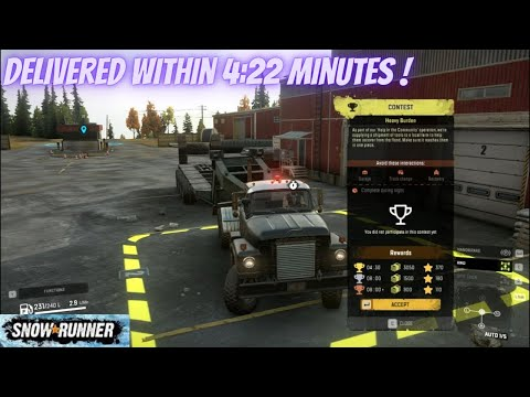 Delivered this Service Spare Parts only in 4:22 Minutes   Midnight Delivery   SnowRunner - PC  