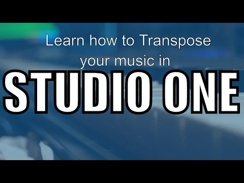 Learn how to transpose in Studio One