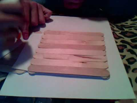 How to make a popsicle stick house youtube ccuart Image collections
