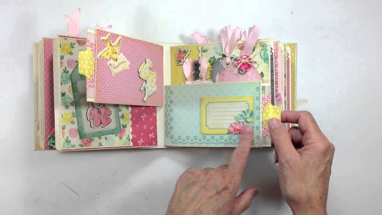 Another 3 page interactive mini scrapbook album | dawns inspirations.