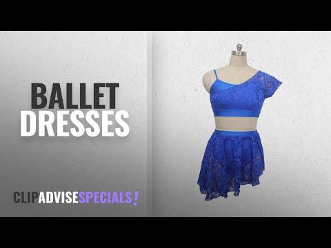 Top 10 Ballet Dresses [2018]: HDW DANCE Lyrical Contemporary Ballet 2 Pieces Dance Dress Shiny Lace