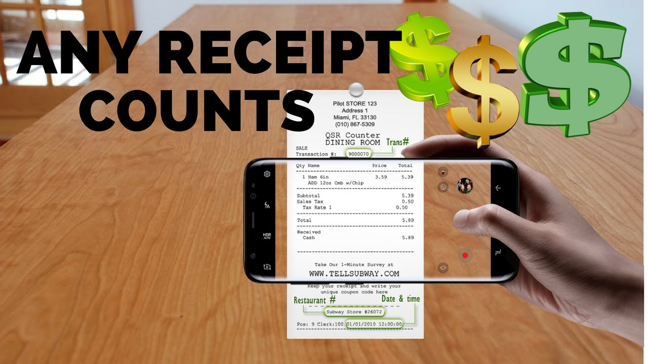 How To Make Money By Scanning Any Receipt
