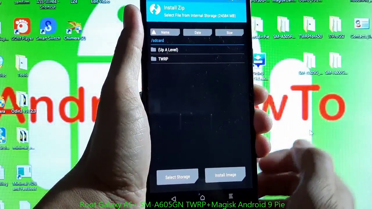 Root Galaxy A6+ SM-A605GN TWRP+Magisk Android 9 Pie